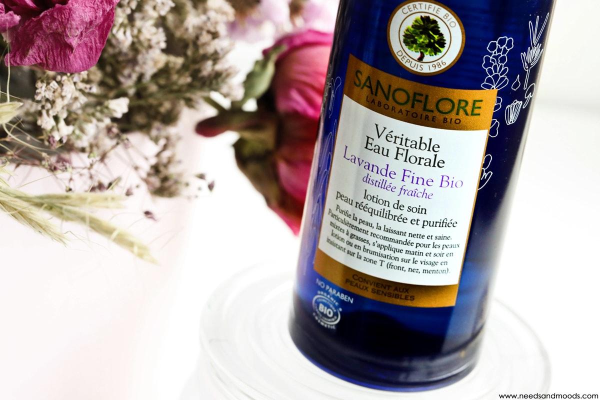 eau florale lavande fine bio sanoflore