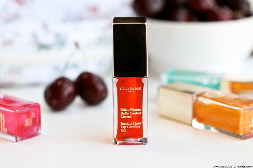 eclat minute huile confort levres tangerine clarins