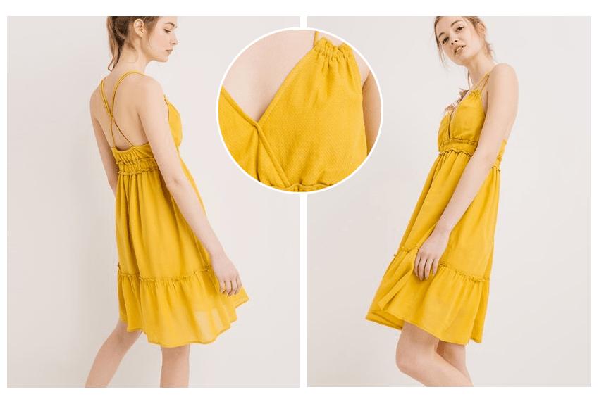 promod robe jaune blog beaut needs and moods. Black Bedroom Furniture Sets. Home Design Ideas