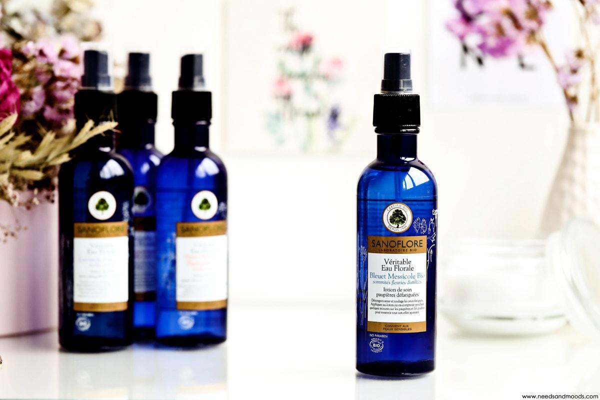 sanoflore eau florale bleuet messicole bio