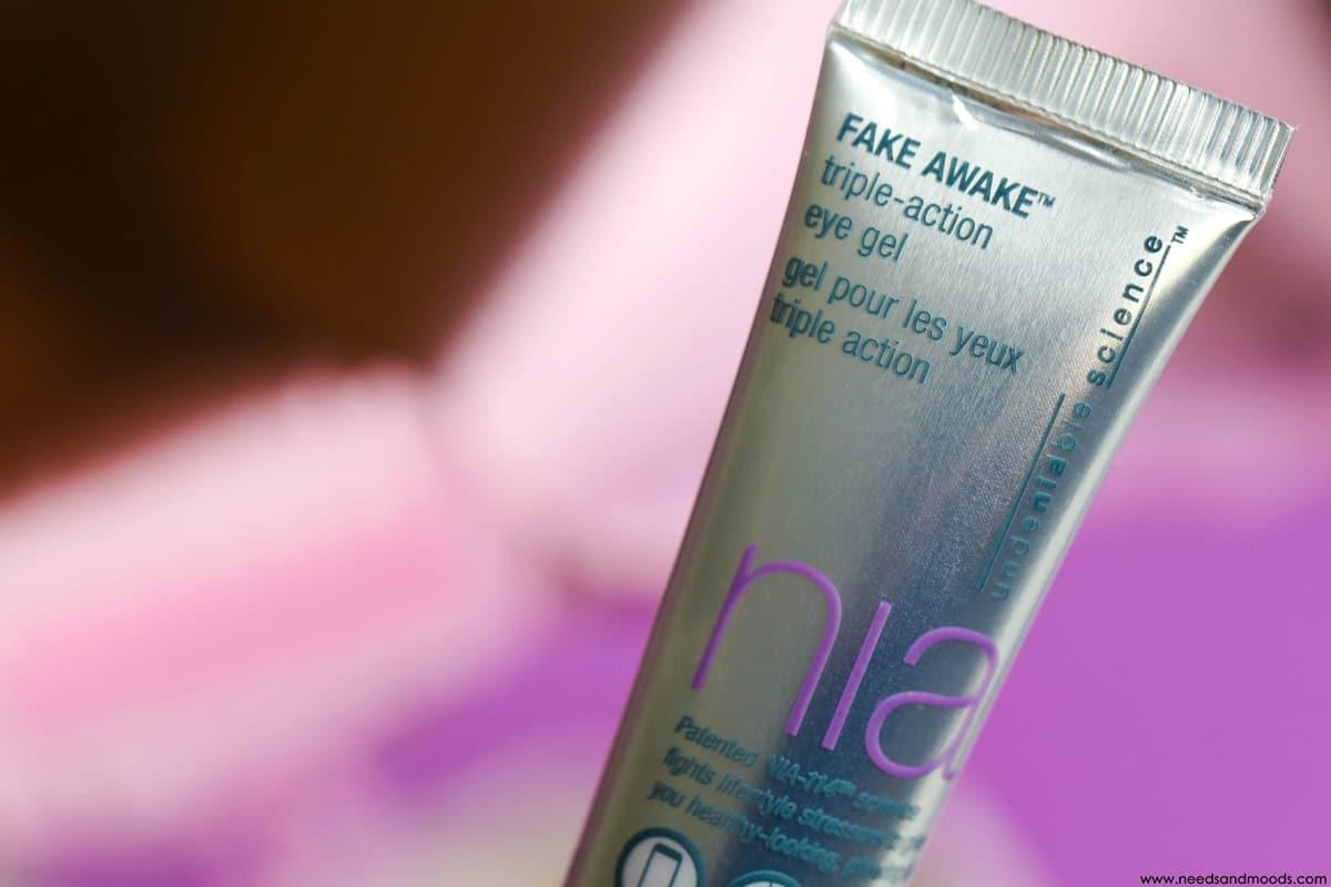 NIA skincare fake awake