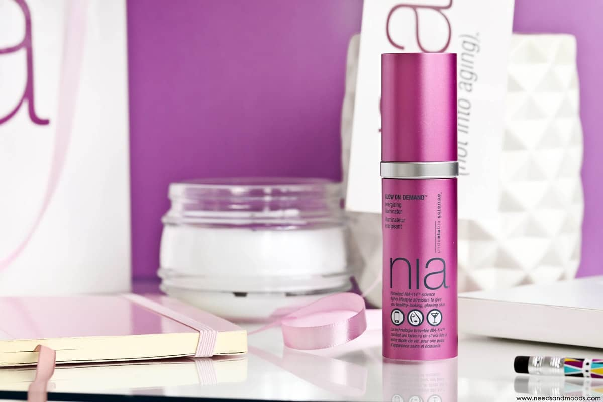 NIA skincare glow on demand