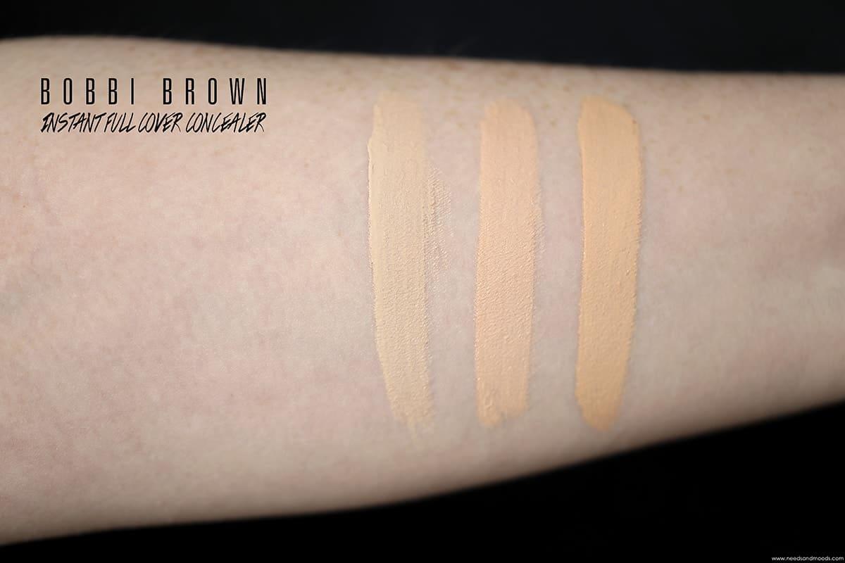 bobbi brown instant full cover concealer swatch