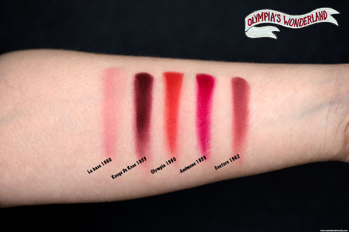 lancome olympias wonderland lip powder swatch