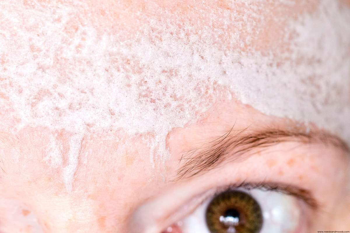 masque moussant caolion