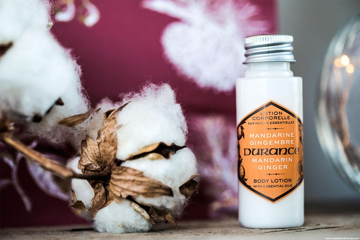 durance lotion corporelle mandarine gingembre