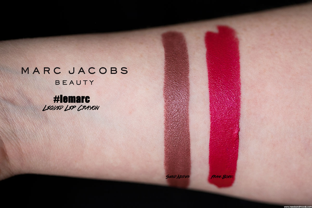 marc jacobs beauty le marc liquid lip crayon swatch