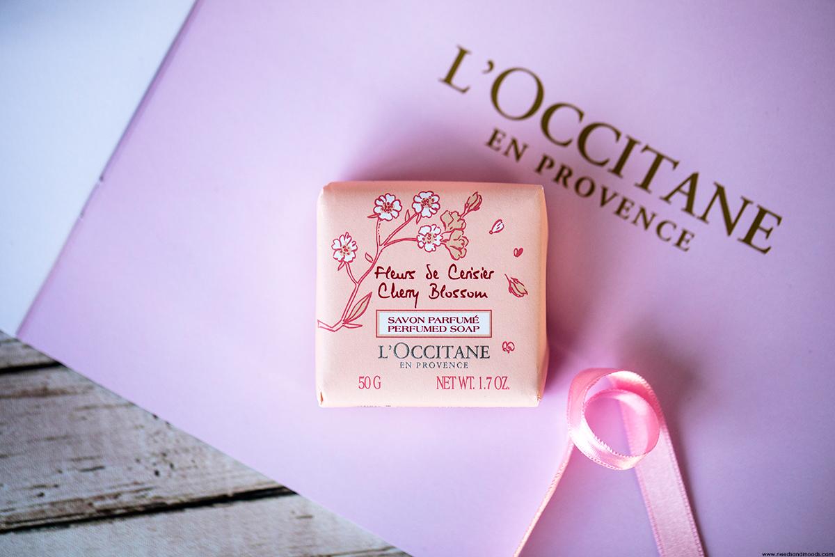 l occitane savon parfume cherry blossom