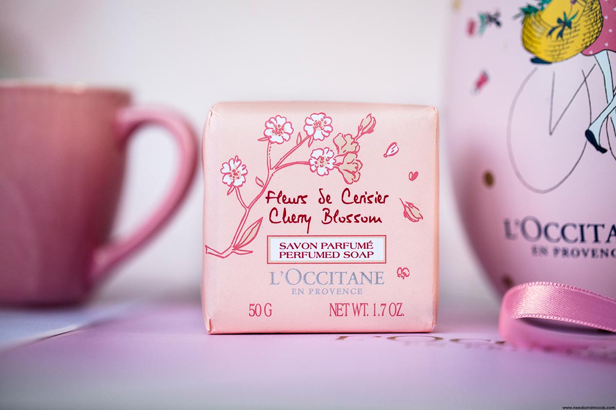 l occitane savon parfume fleurs de cerisier
