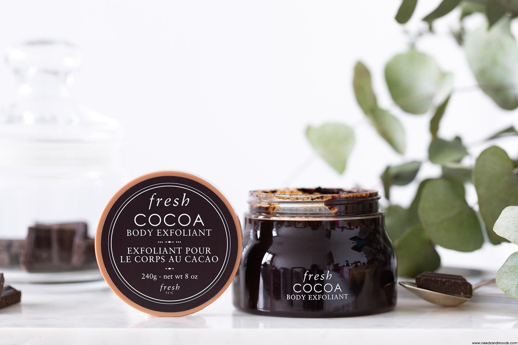 fresh beauty exfoliant corps cacao avis