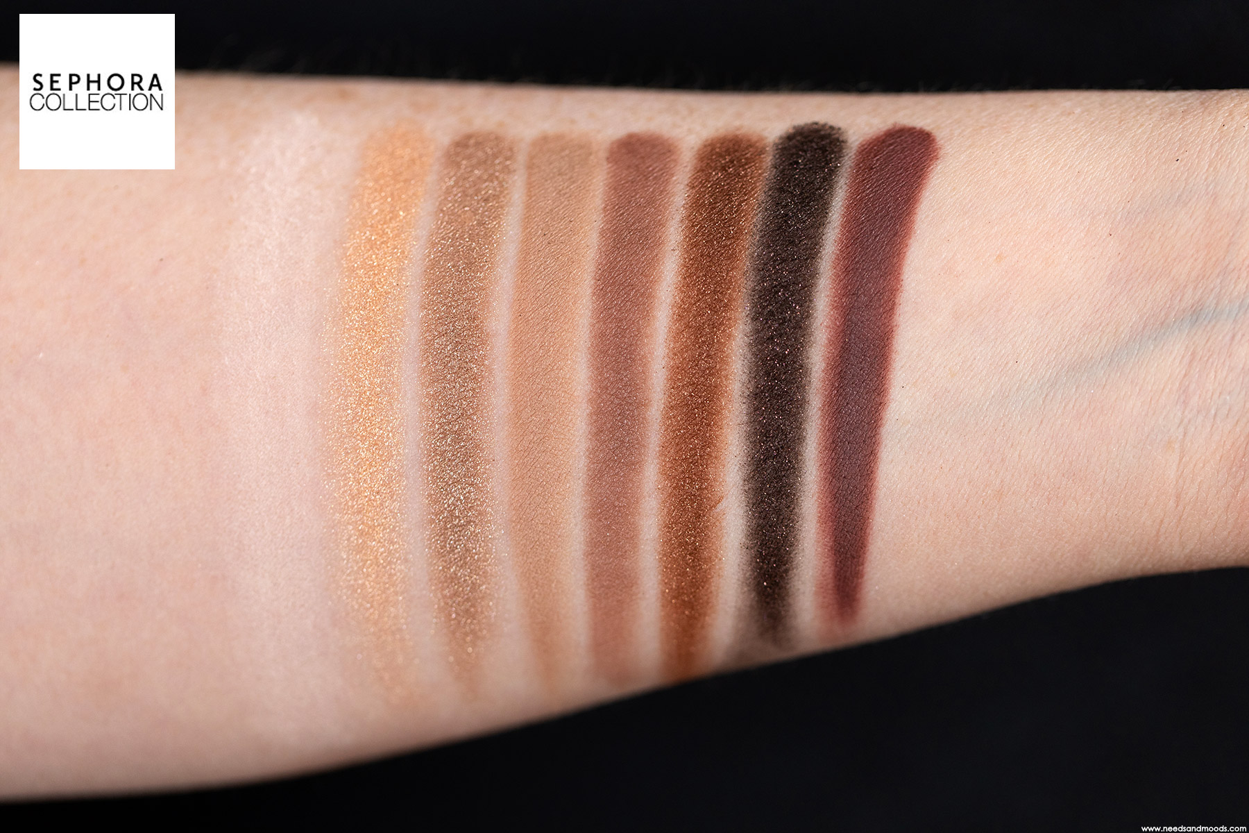 sephora palette to take away intense coffee swatch 2