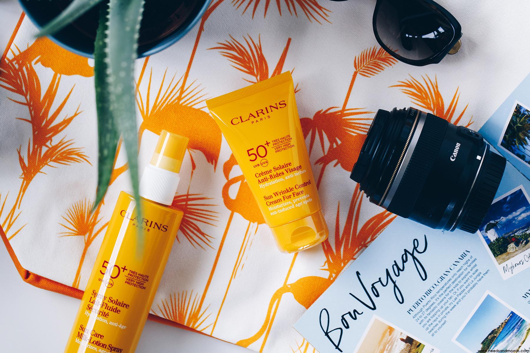 clarins creme solaire anti rides visage