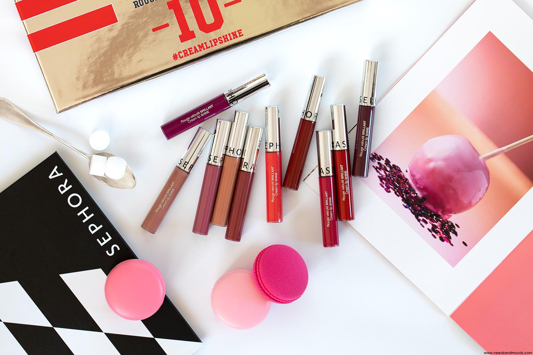 Sephora Cream Lip Shine Mon Avis Swatch De Toutes Les