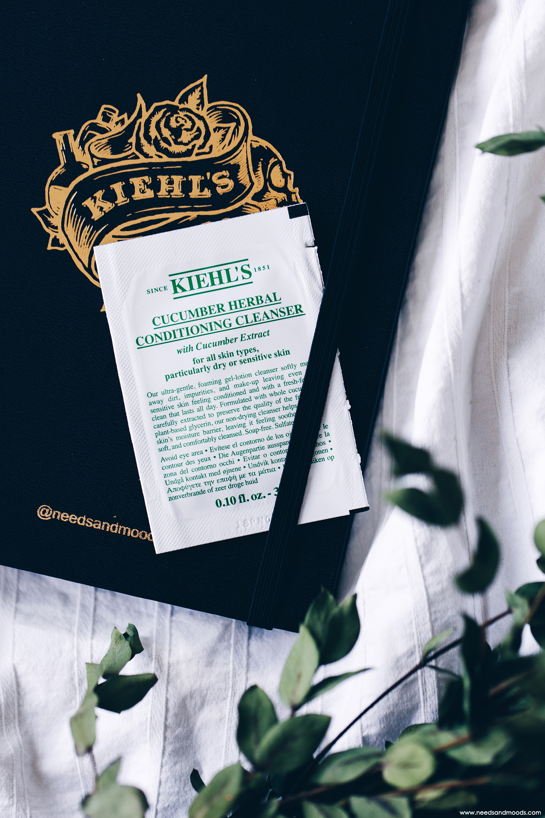 calendrier avent kiehls 2018 cucumber herbal conditioning cleanser