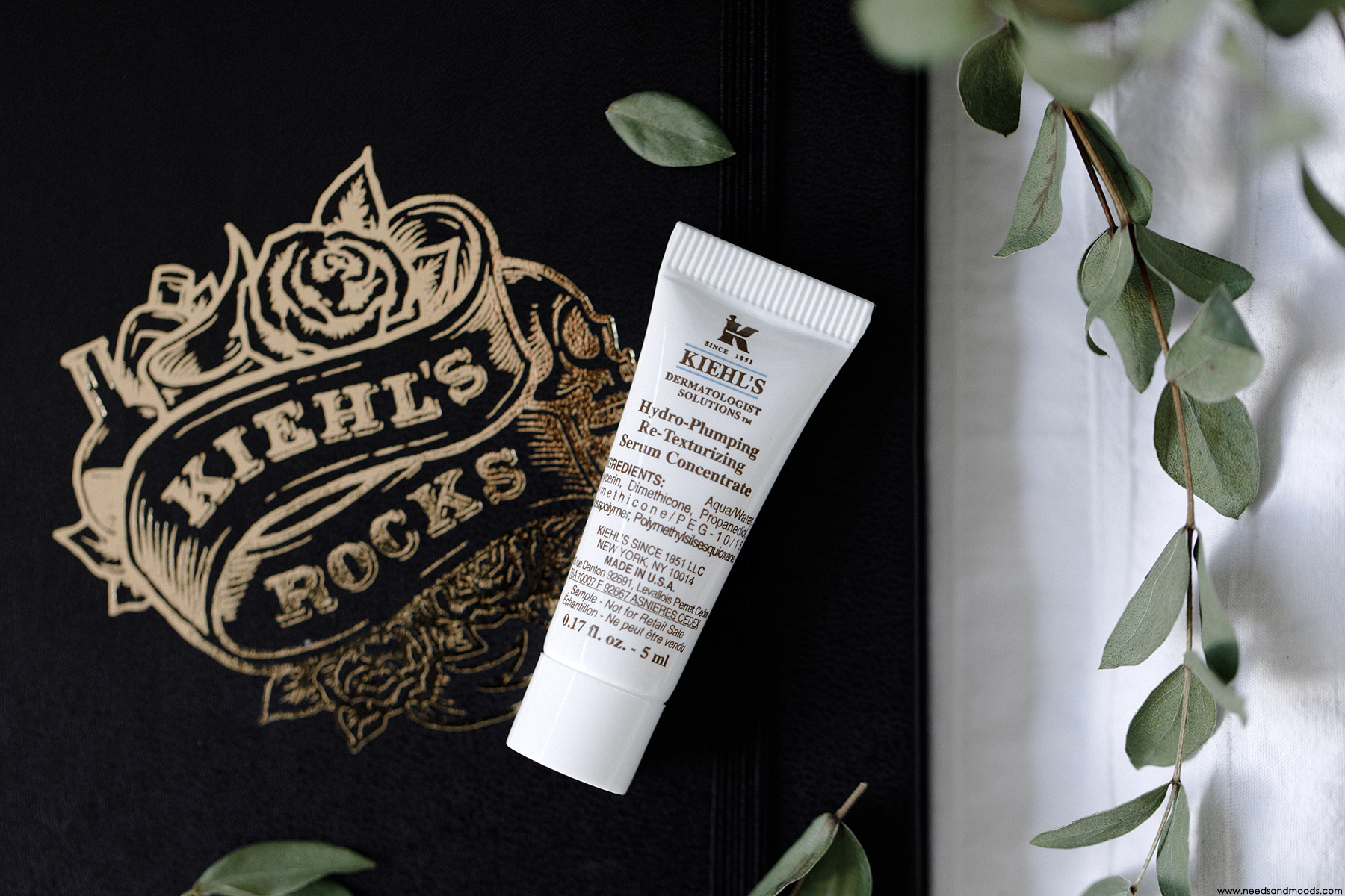 calendrier avent kiehls 2018 hydro plumping re texturizing serum concentrate