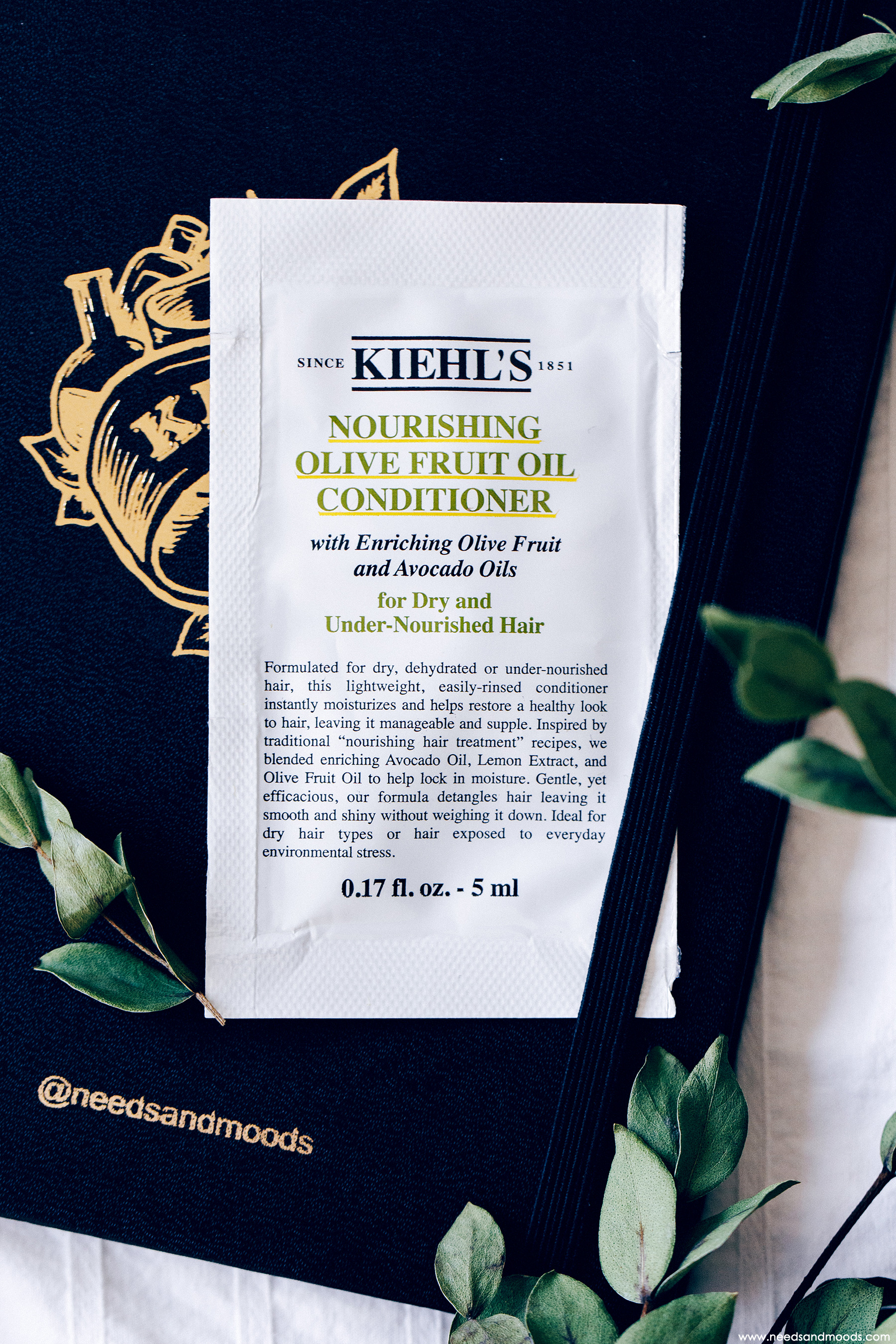 calendrier avent kiehls 2018 nourishing olive fruit oil conditioner