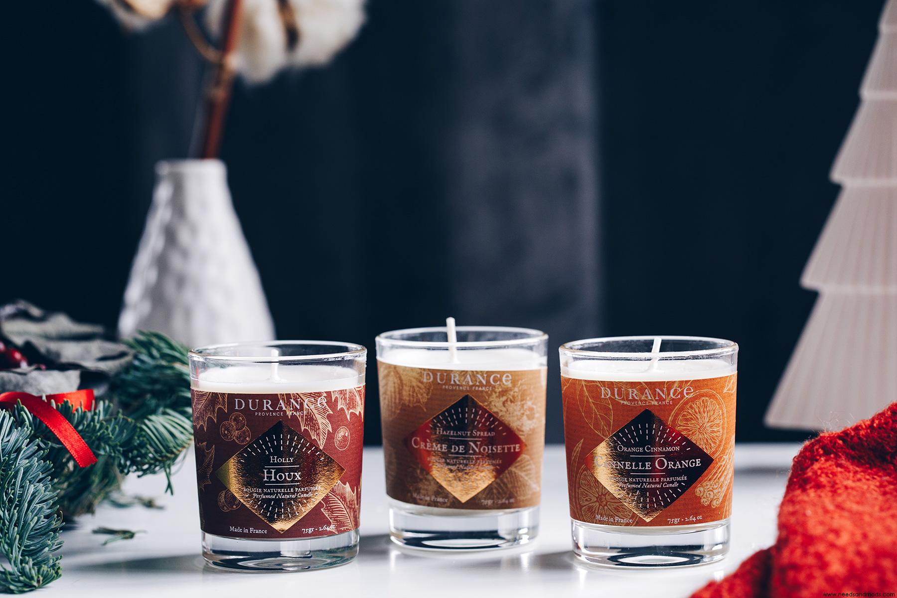 durance noel 2018 trio bougies
