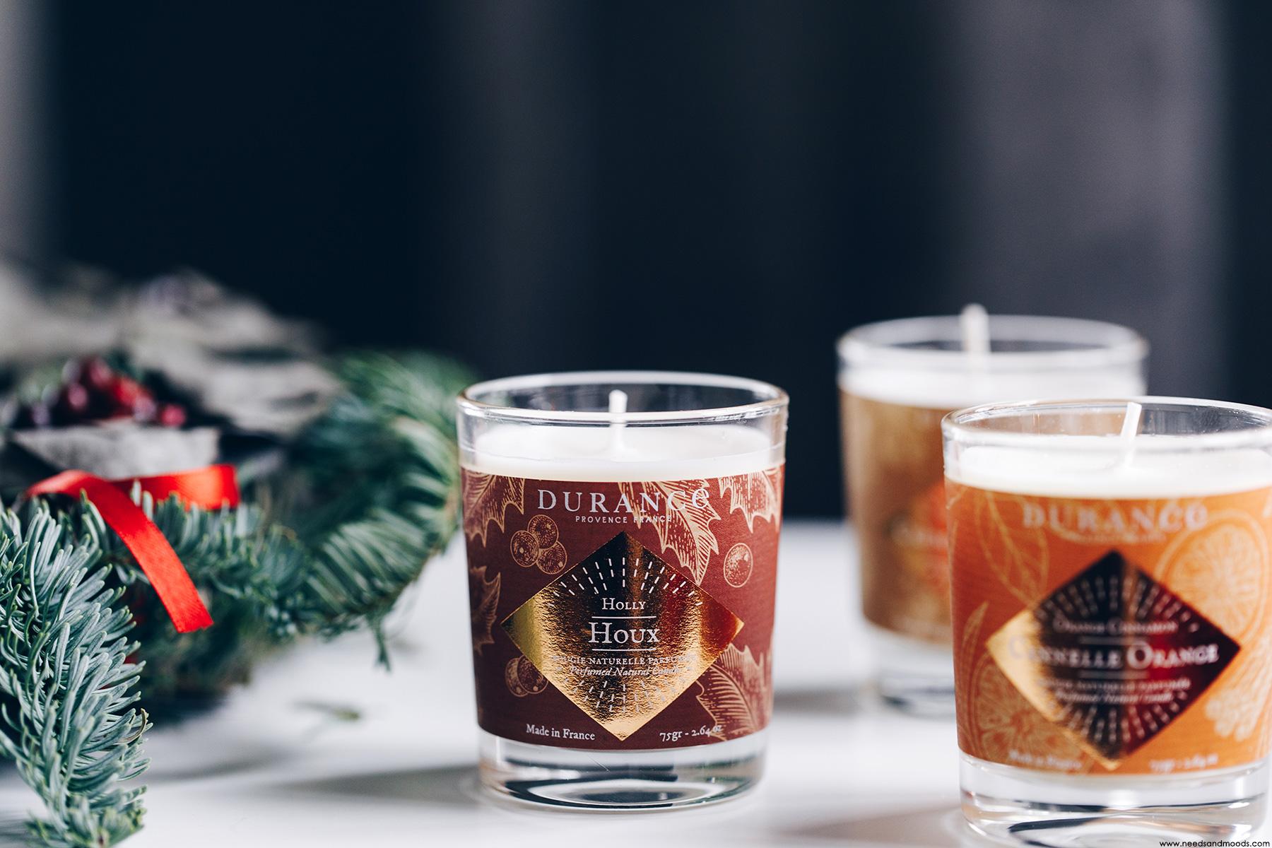durance noel bougies parfumees