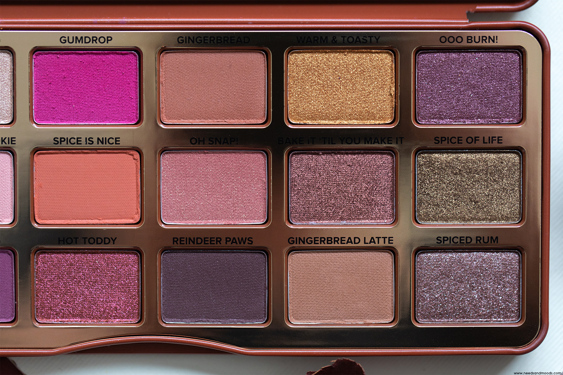 too faced palette gingerbread spice