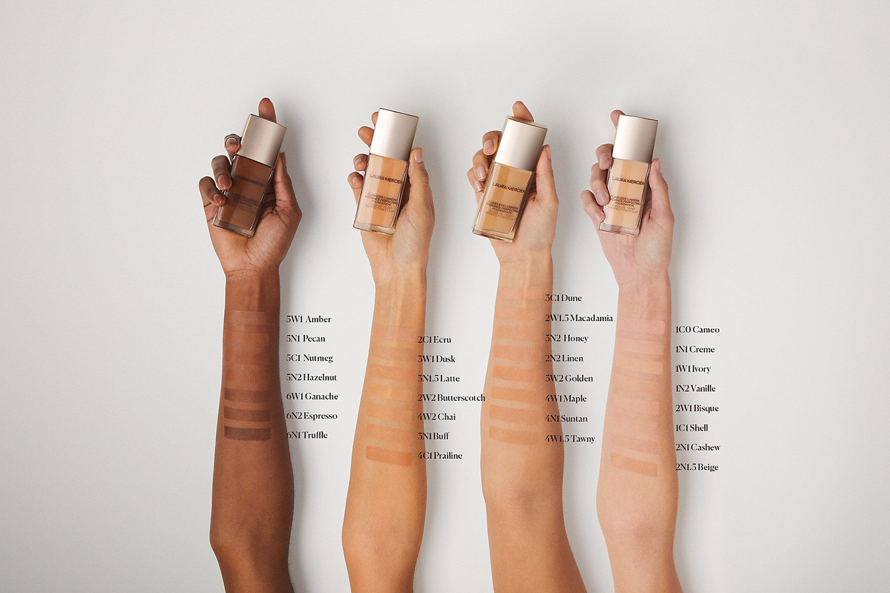 laura mercier flawless lumiere radiance perfecting foundation swatch