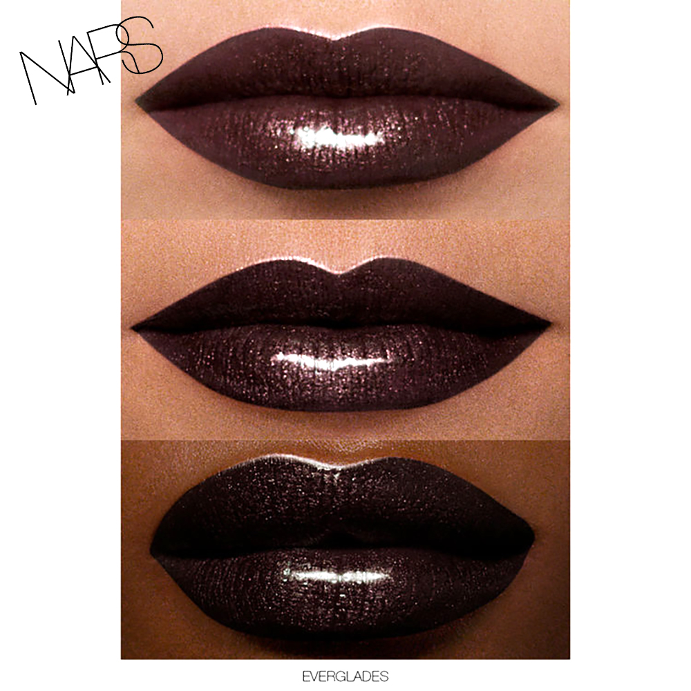 NARS Full Vinyl Lip lacquer everglades swatch