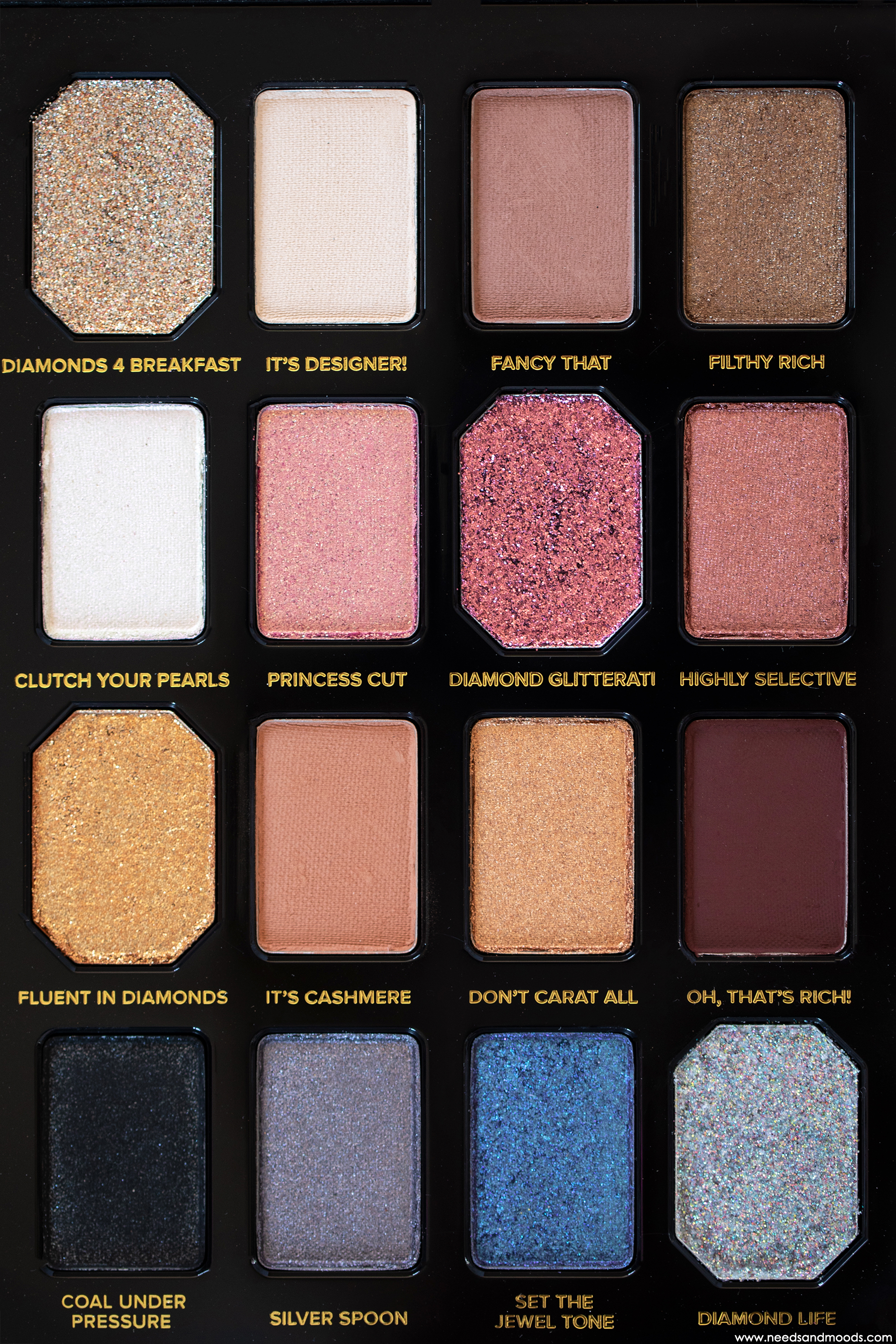 too faced pretty rich palette fards paupières