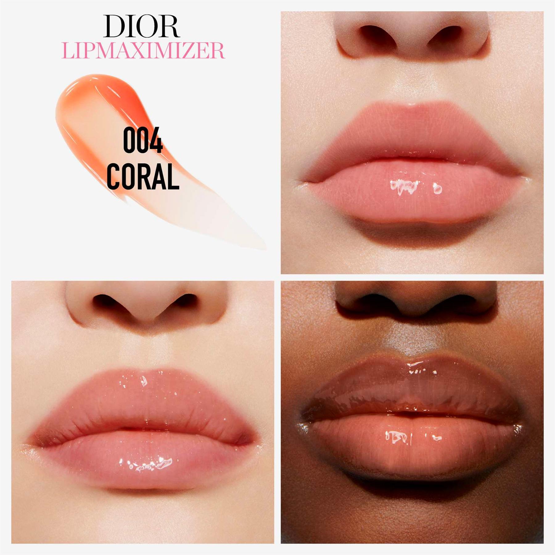 dior lip maximizer coral swatch
