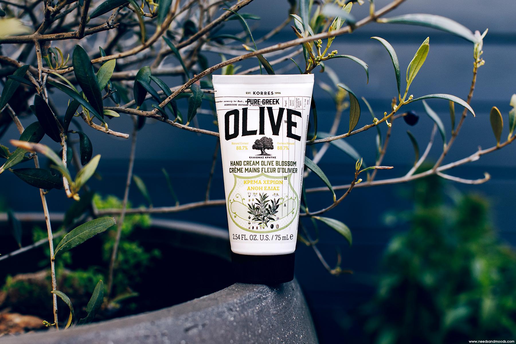 korres pure greek olive creme mains avis