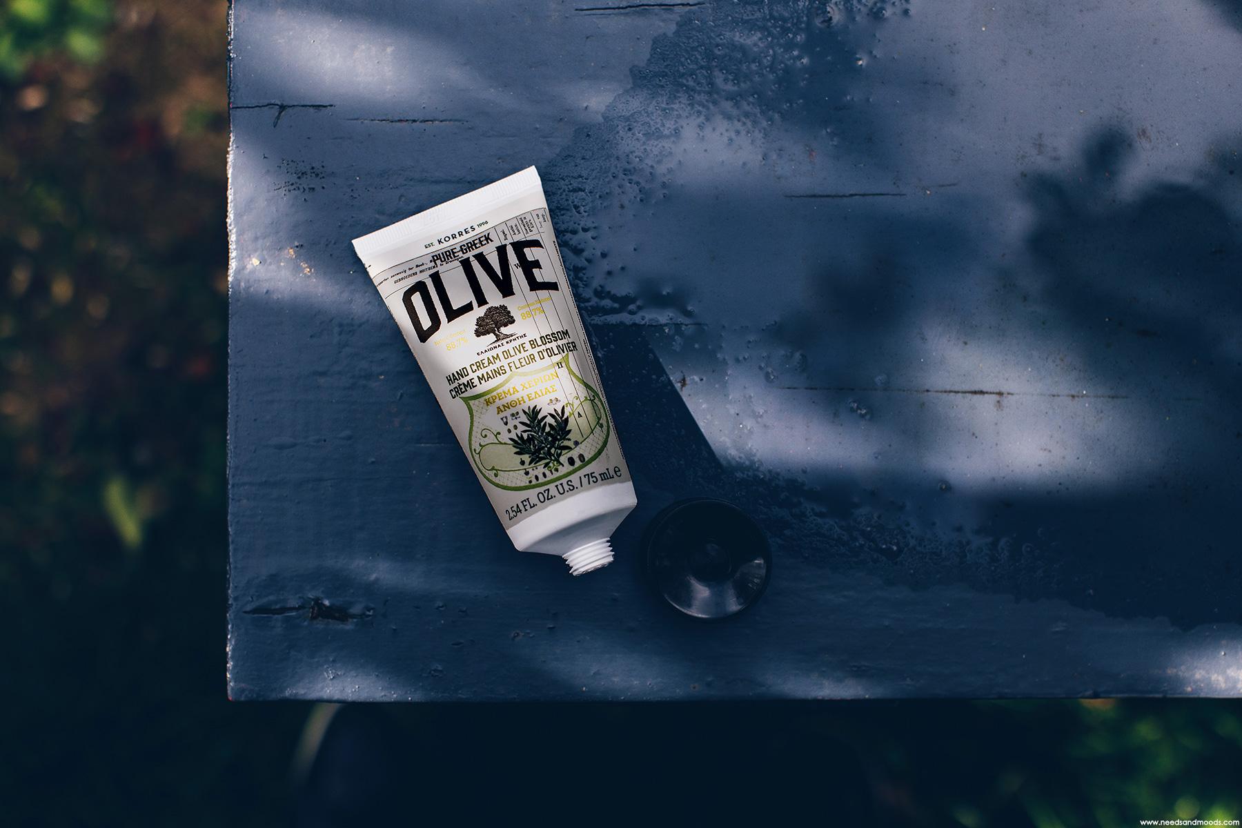 korres pure greek olive creme mains fleur olivier avis