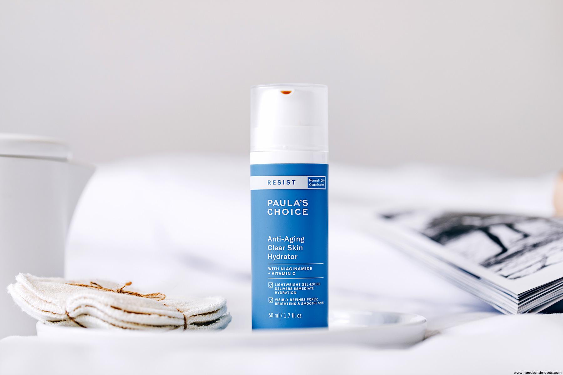 paula's choice avis anti aging clear skin hydrator