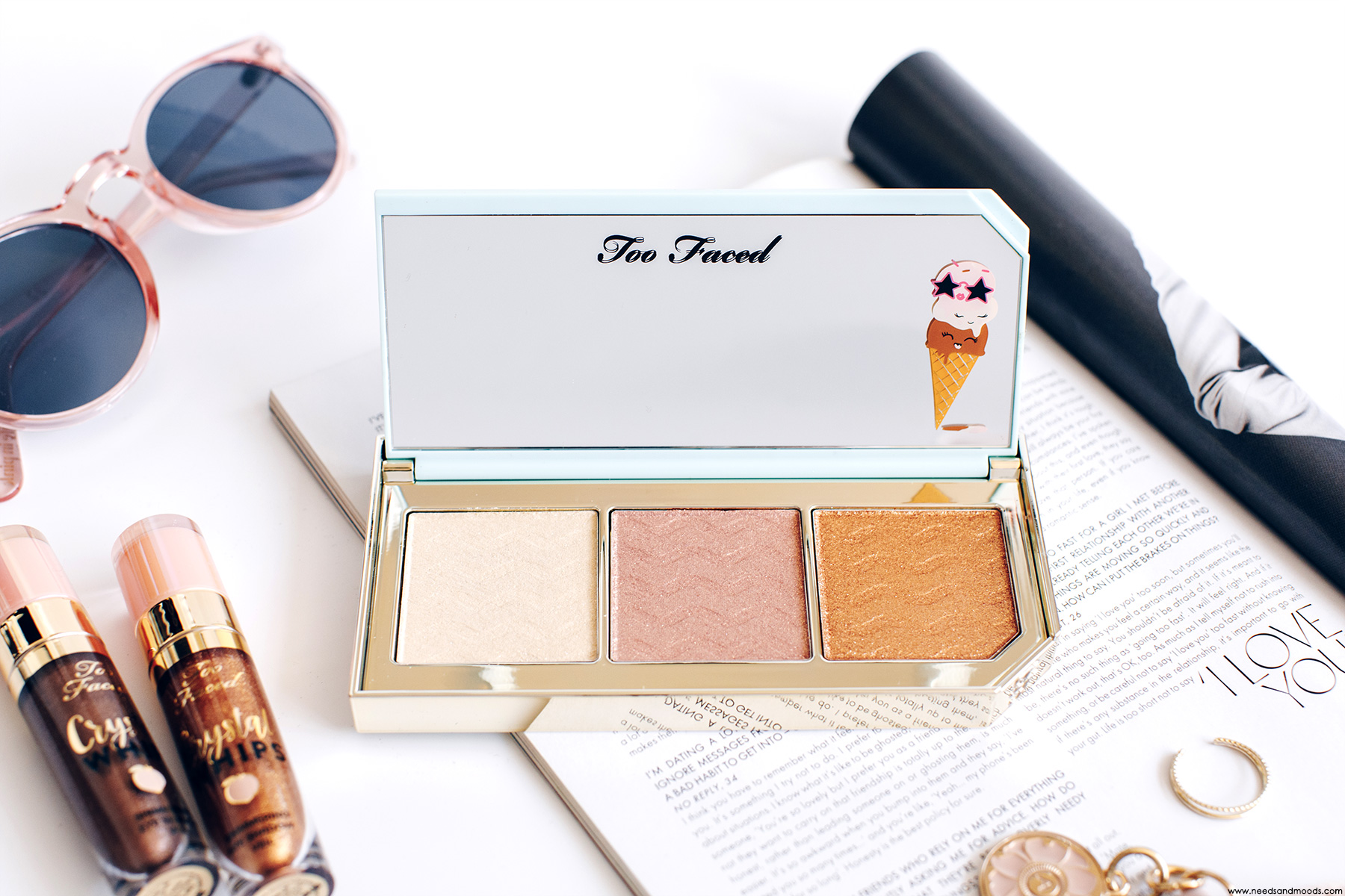 too faced triple scoop palette avis