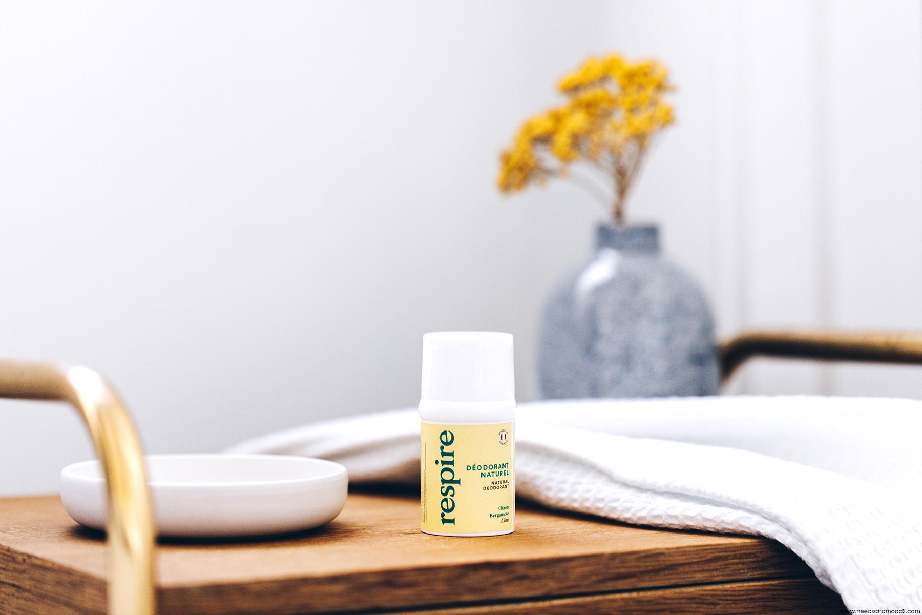 respire deodorant naturel citron bergamote avis