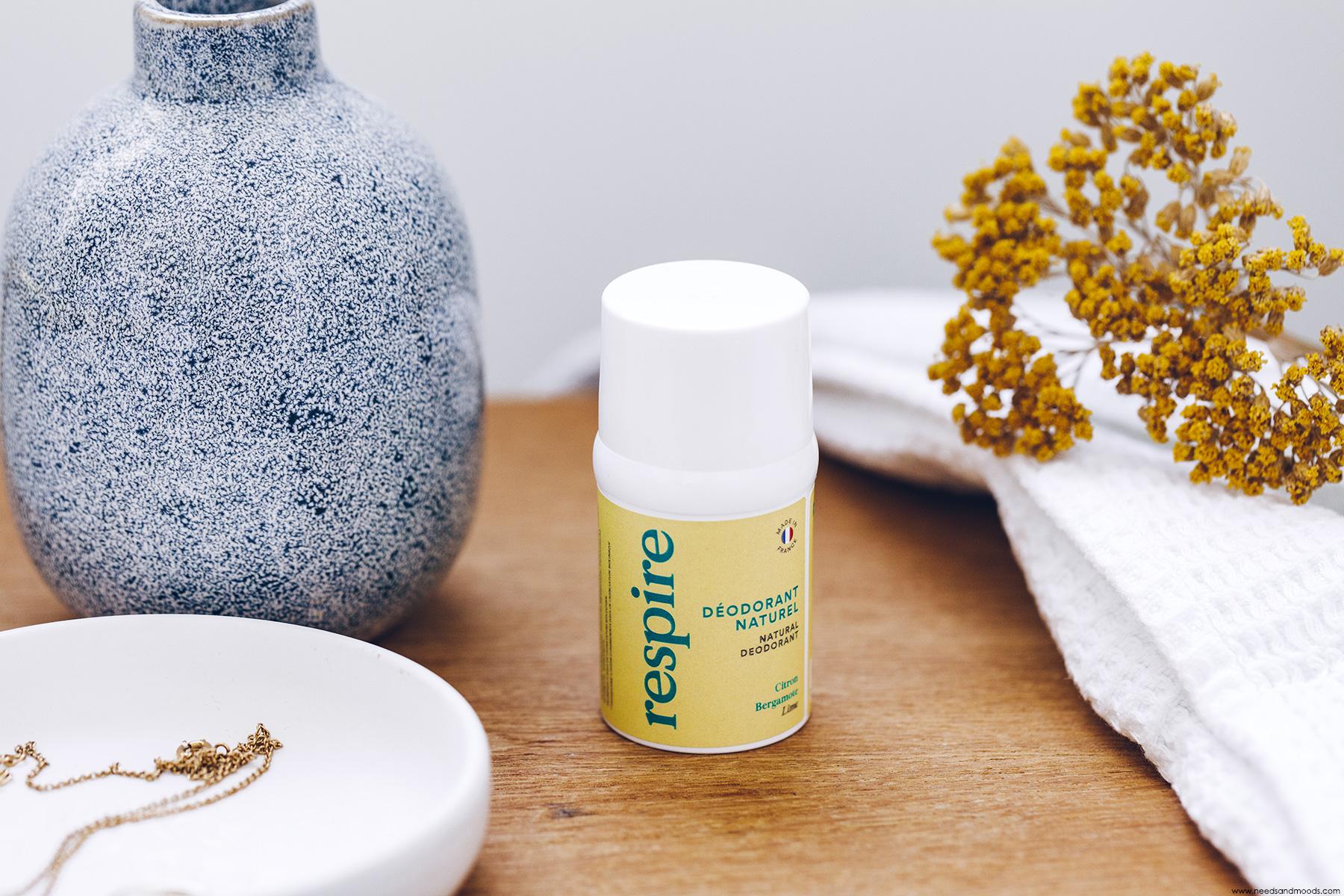 respire deodorant naturel citron bergamote