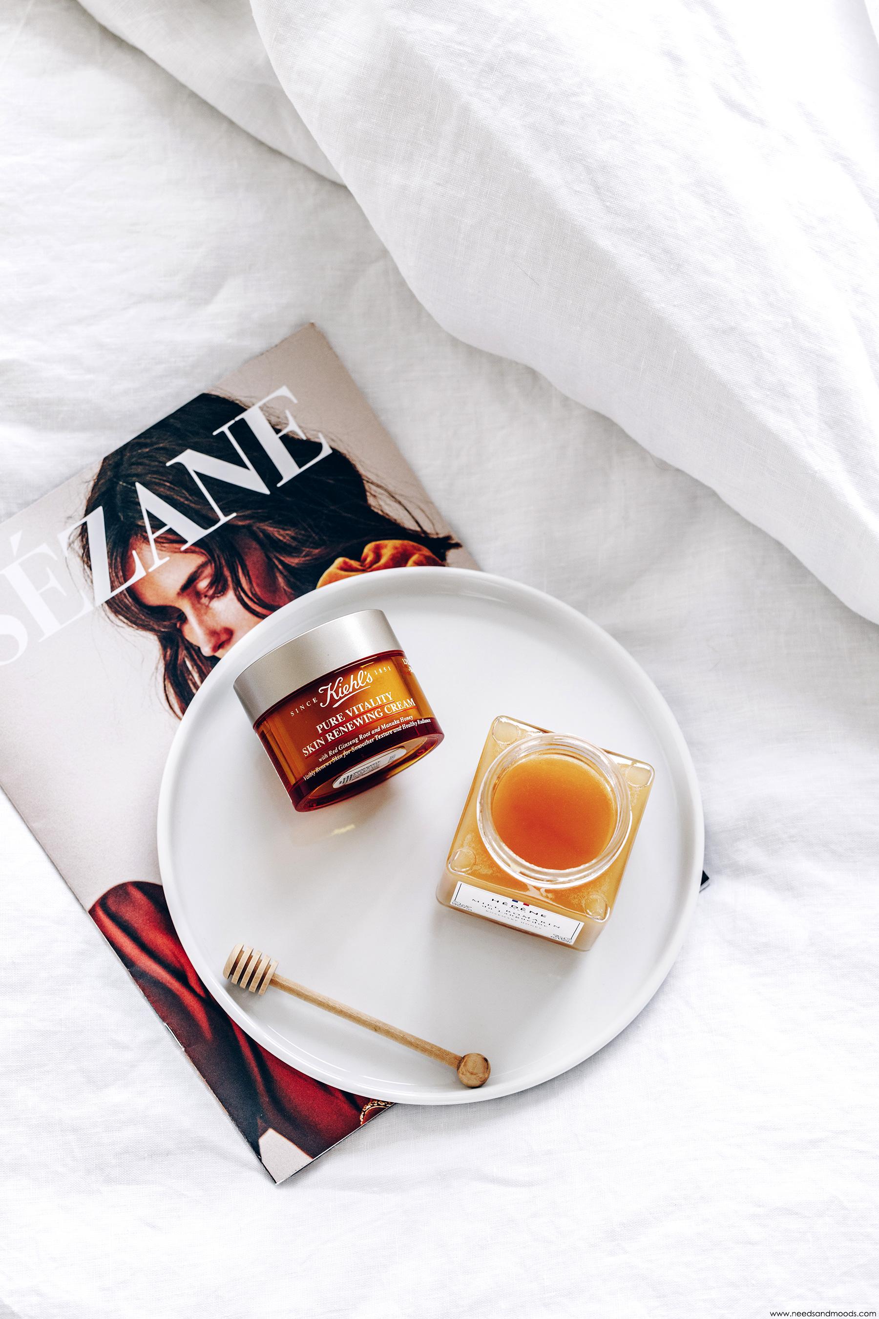 kiehls pure vitality creme hydratante miel manuka
