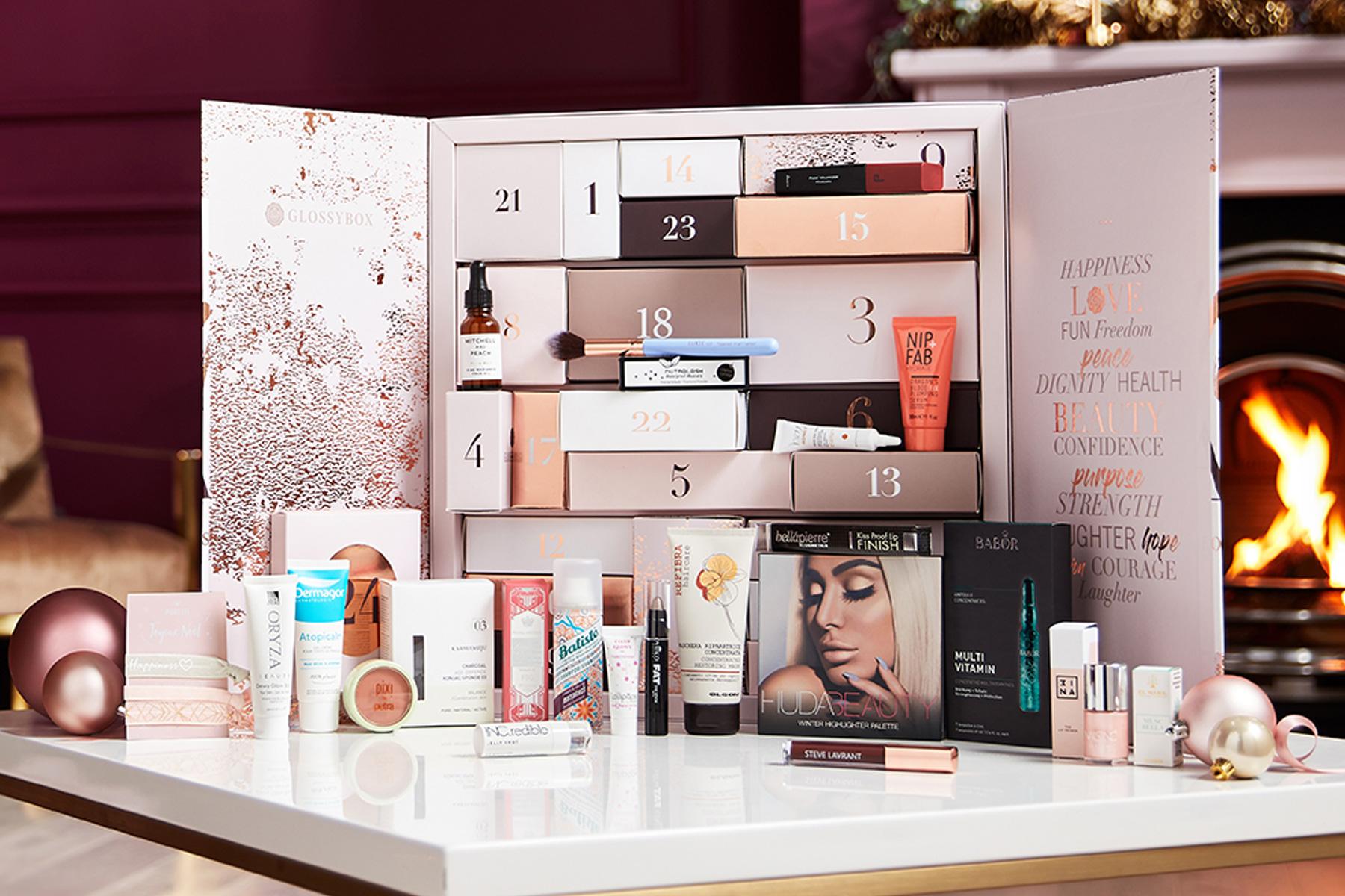 calendrier-de-lavent-glossybox-2019-contenu