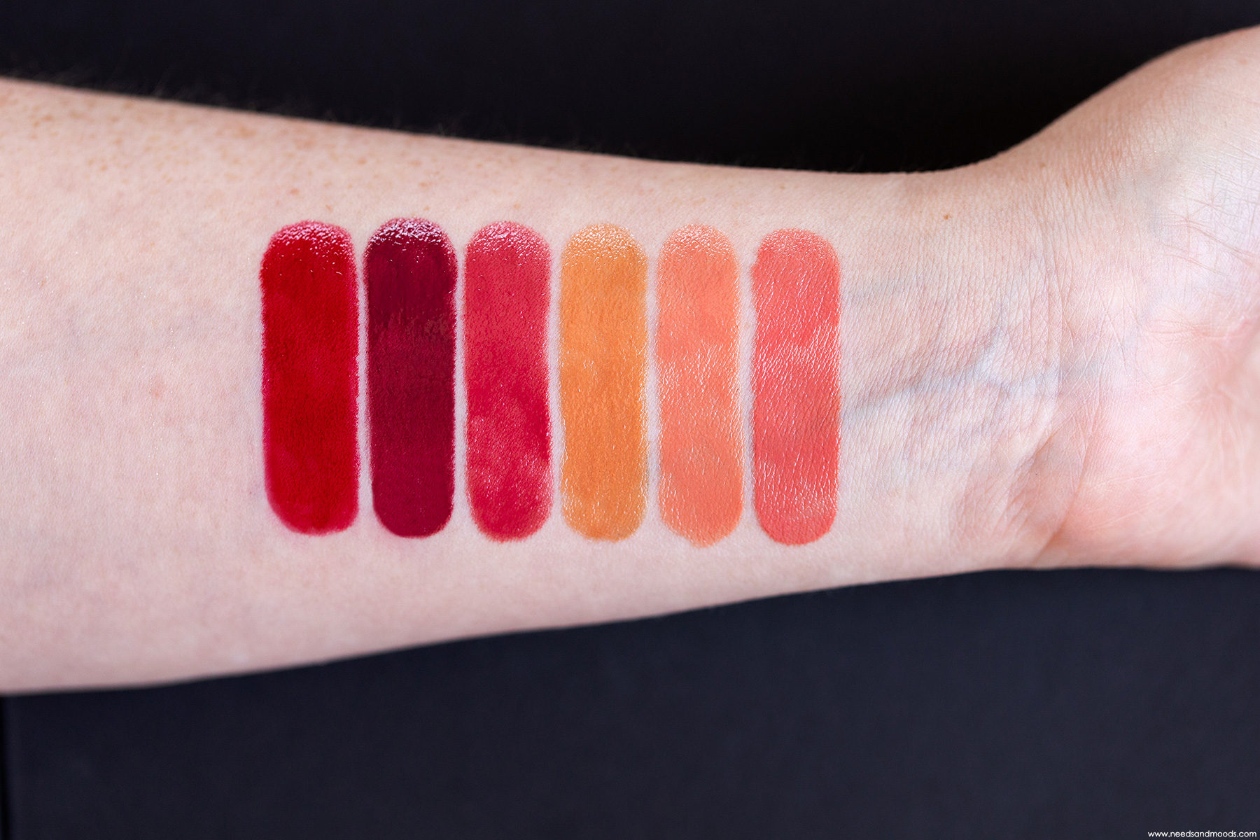 shiseido laque levres ink swatch