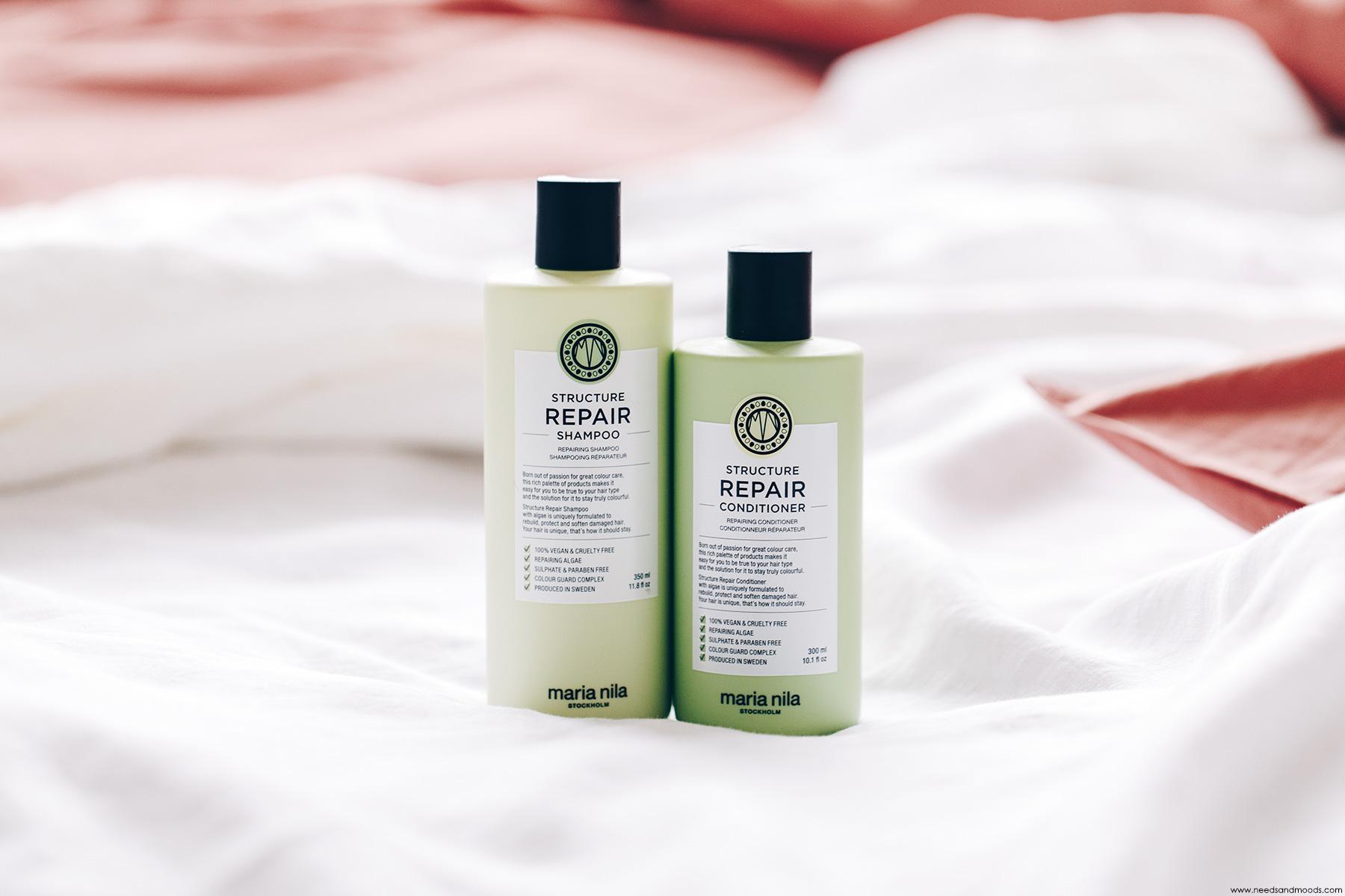 maria nila structure repair shampooing conditioner avis