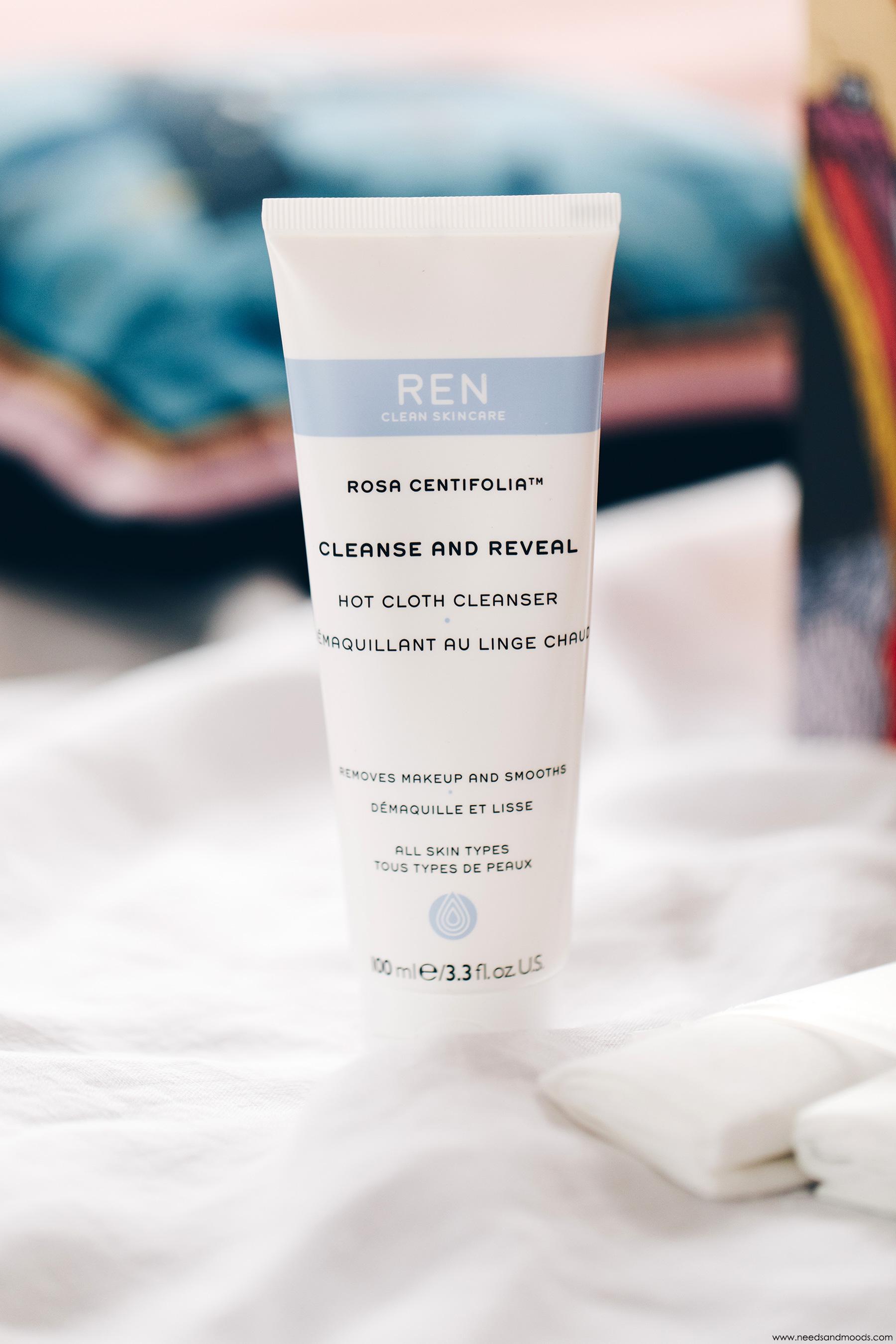 ren clean skincare demaquillant linge chaud