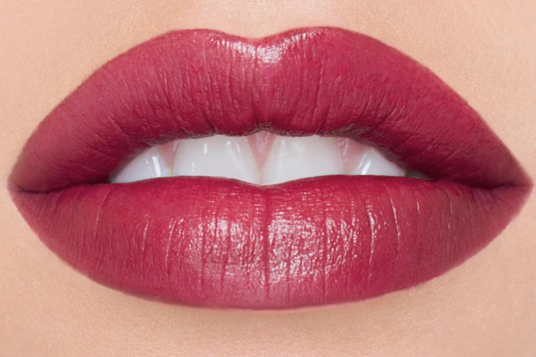 chantecaille lip veil azalea swatch
