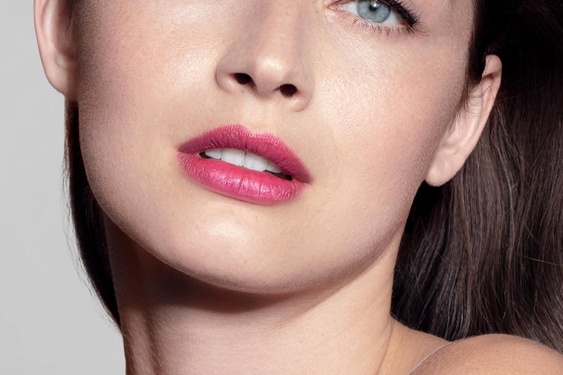 chantecaille lip veil iris swatch