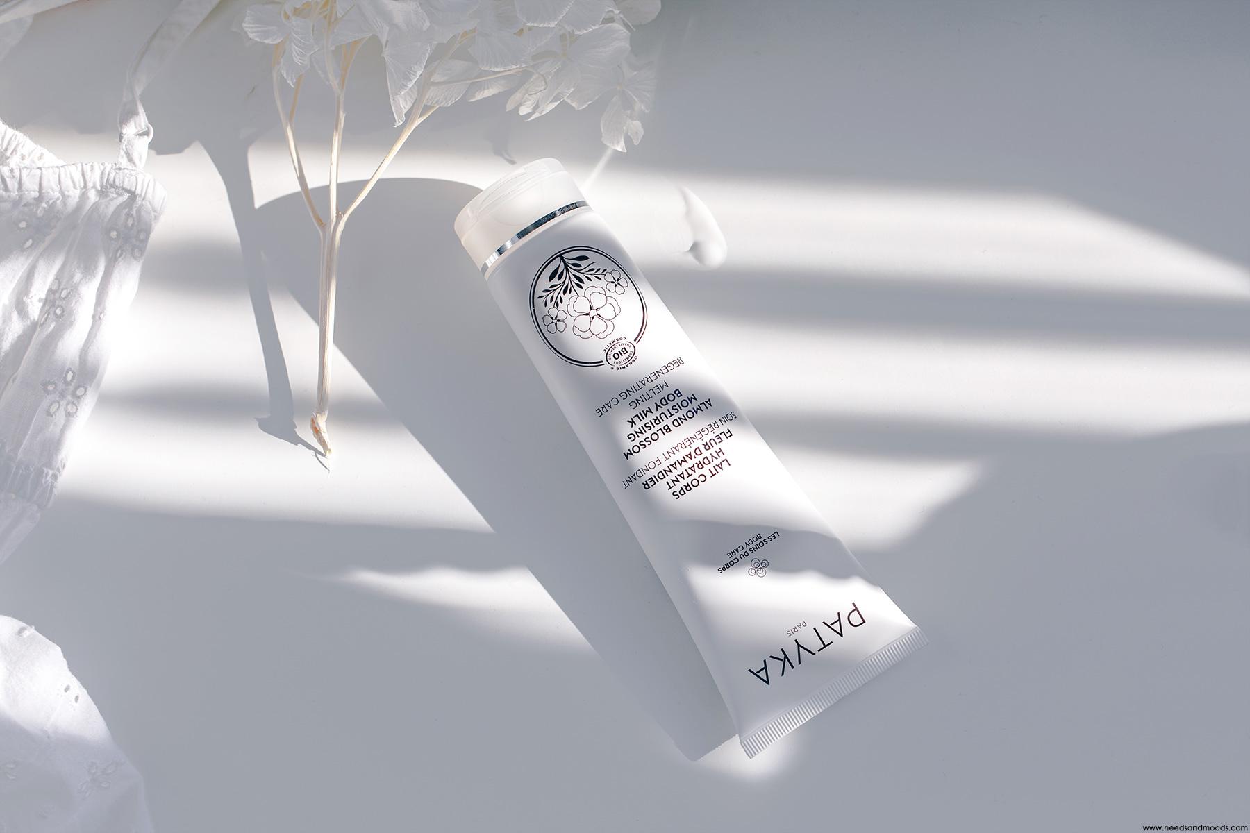 patyka avis lait corps hydratant fleur amandier