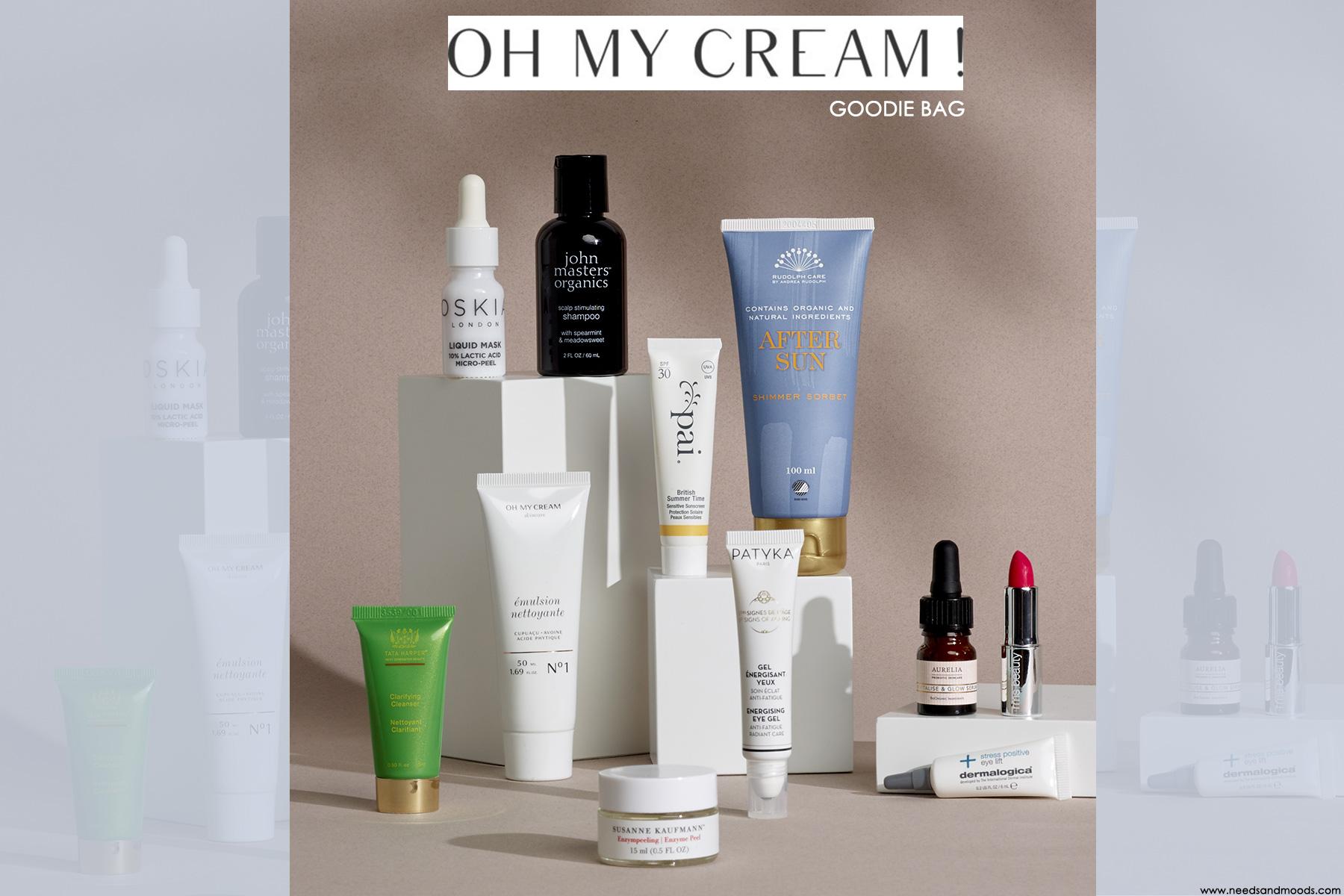 oh my cream goodie bag juin 2020