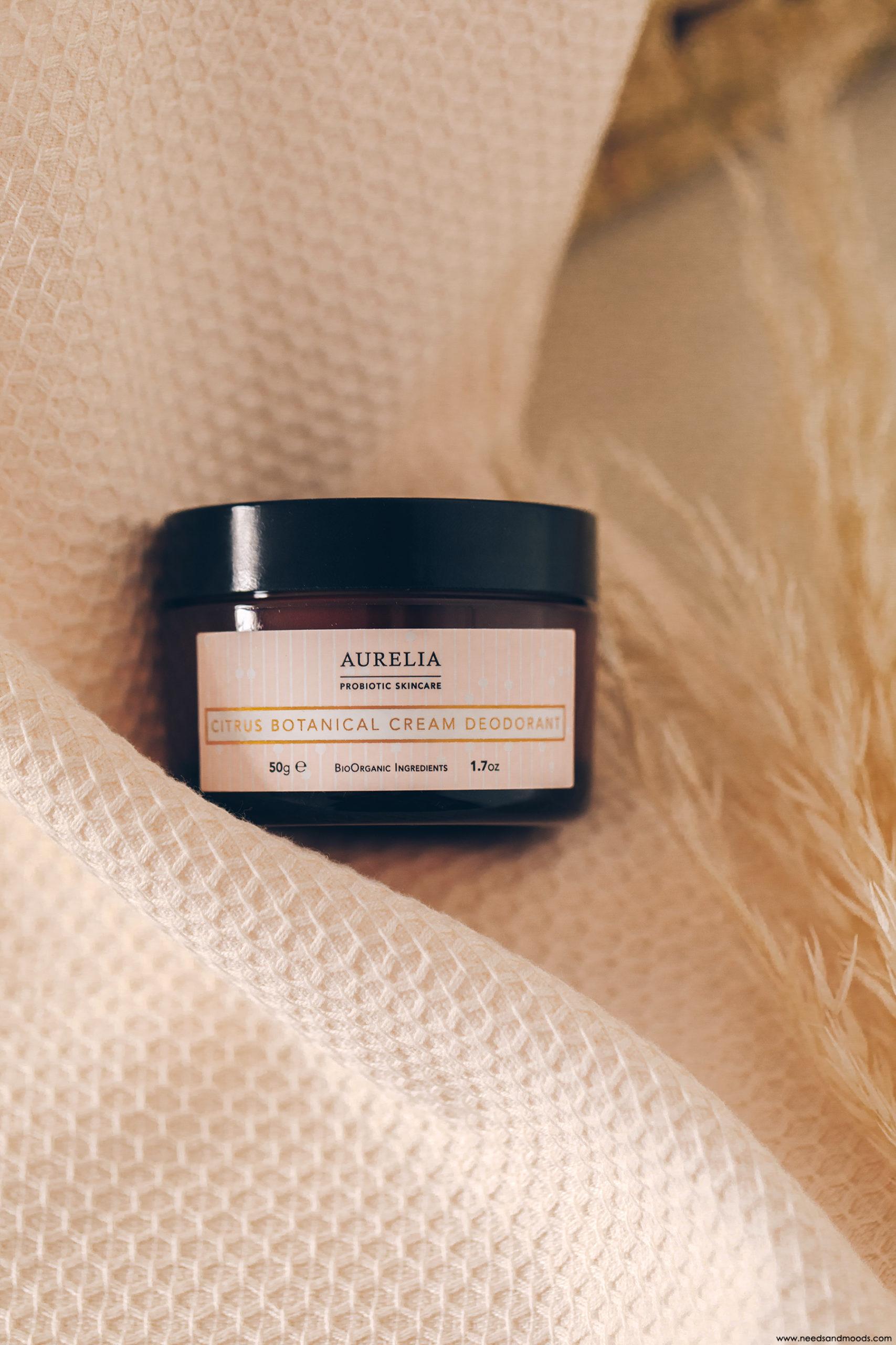 aurelia probiotic citrus botanical cream deodorant