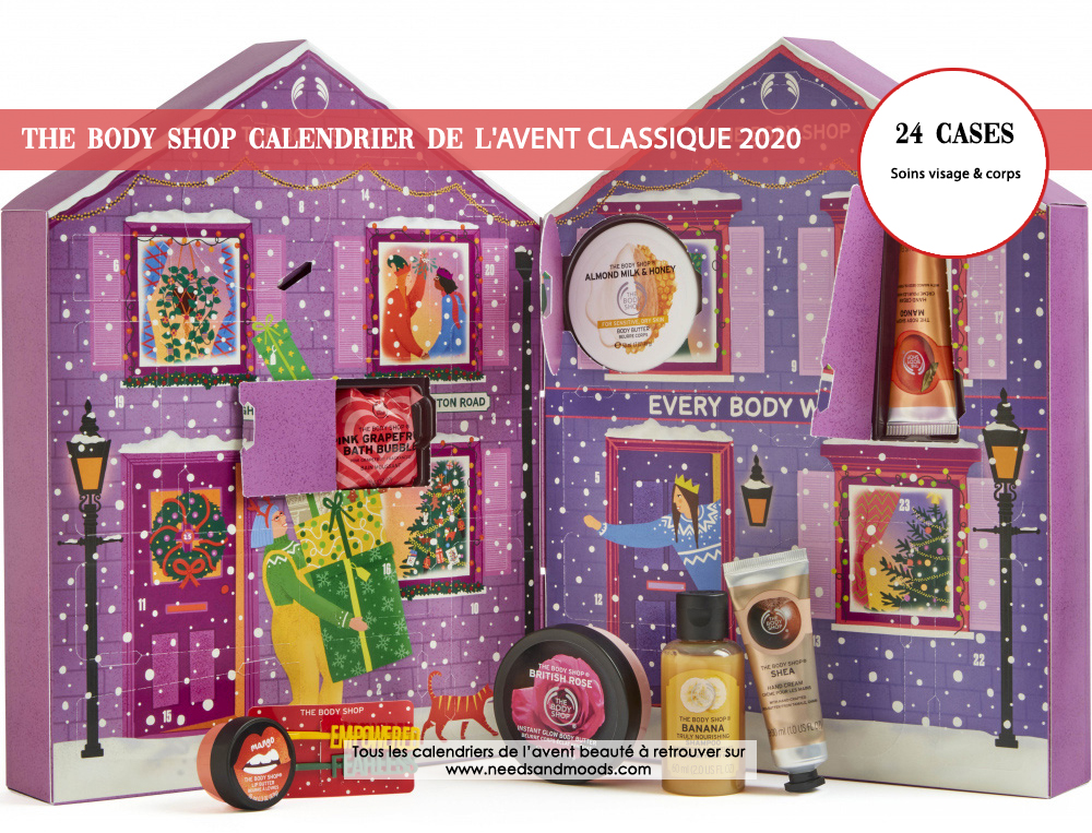 calendrier avent 2020 the body shop classique