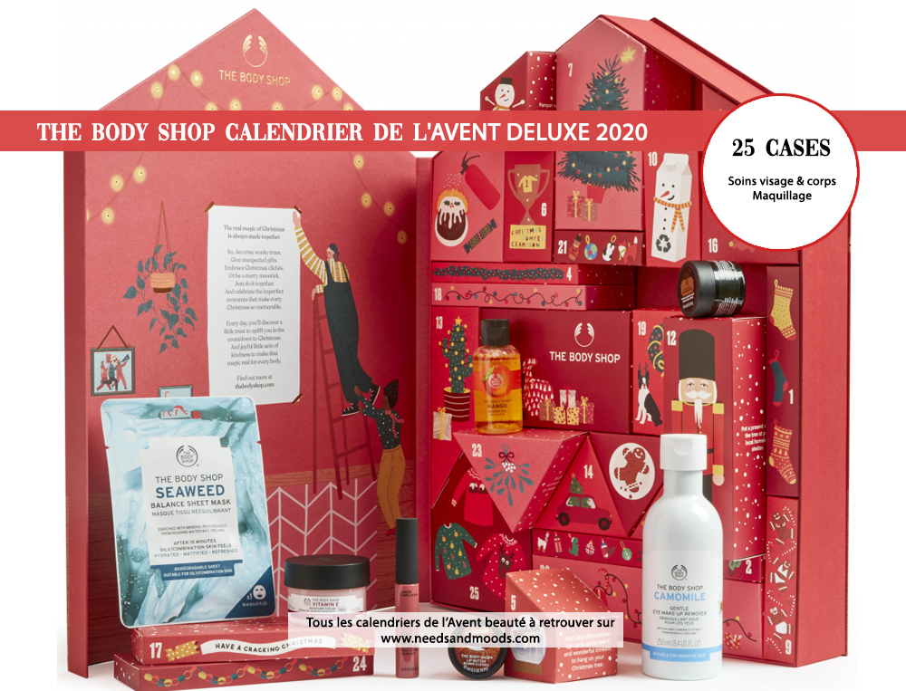 calendrier avent 2020 the body shop deluxe