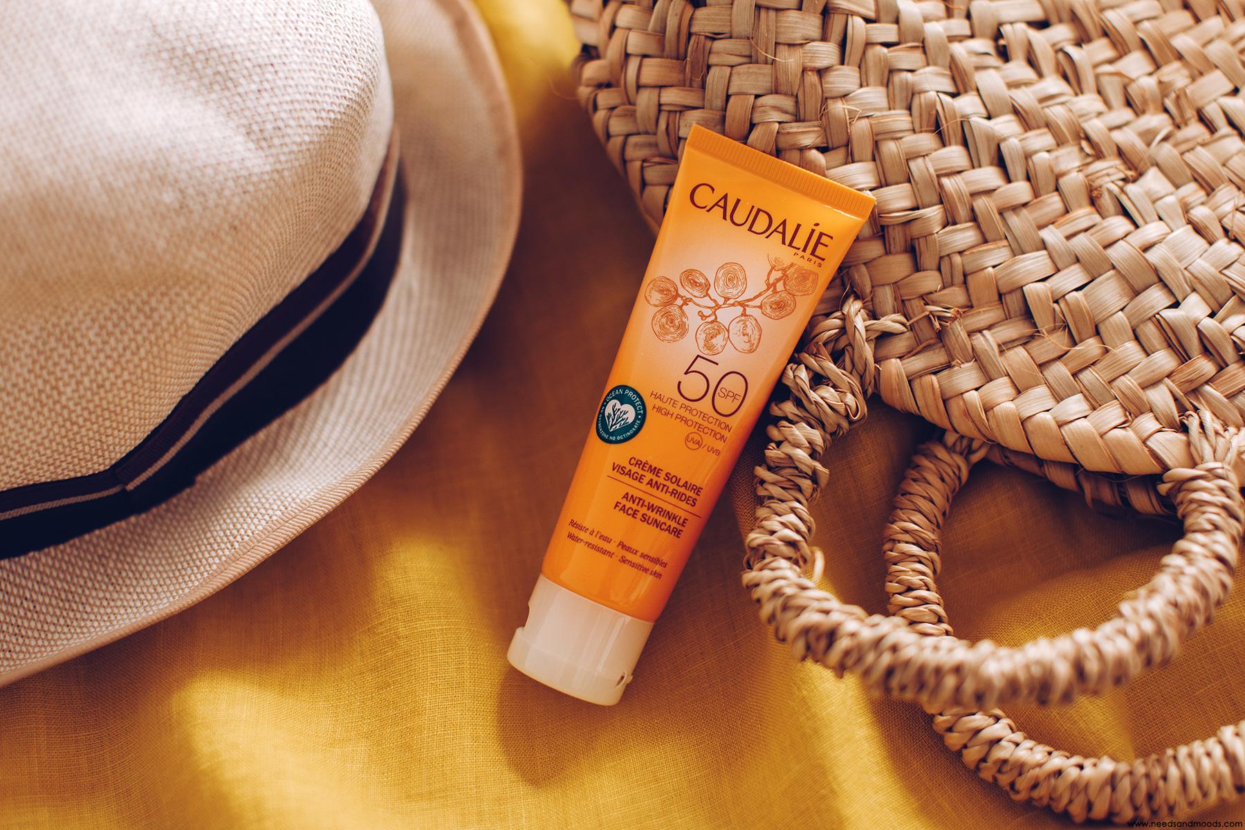 caudalie creme solaire visage anti-rides avis