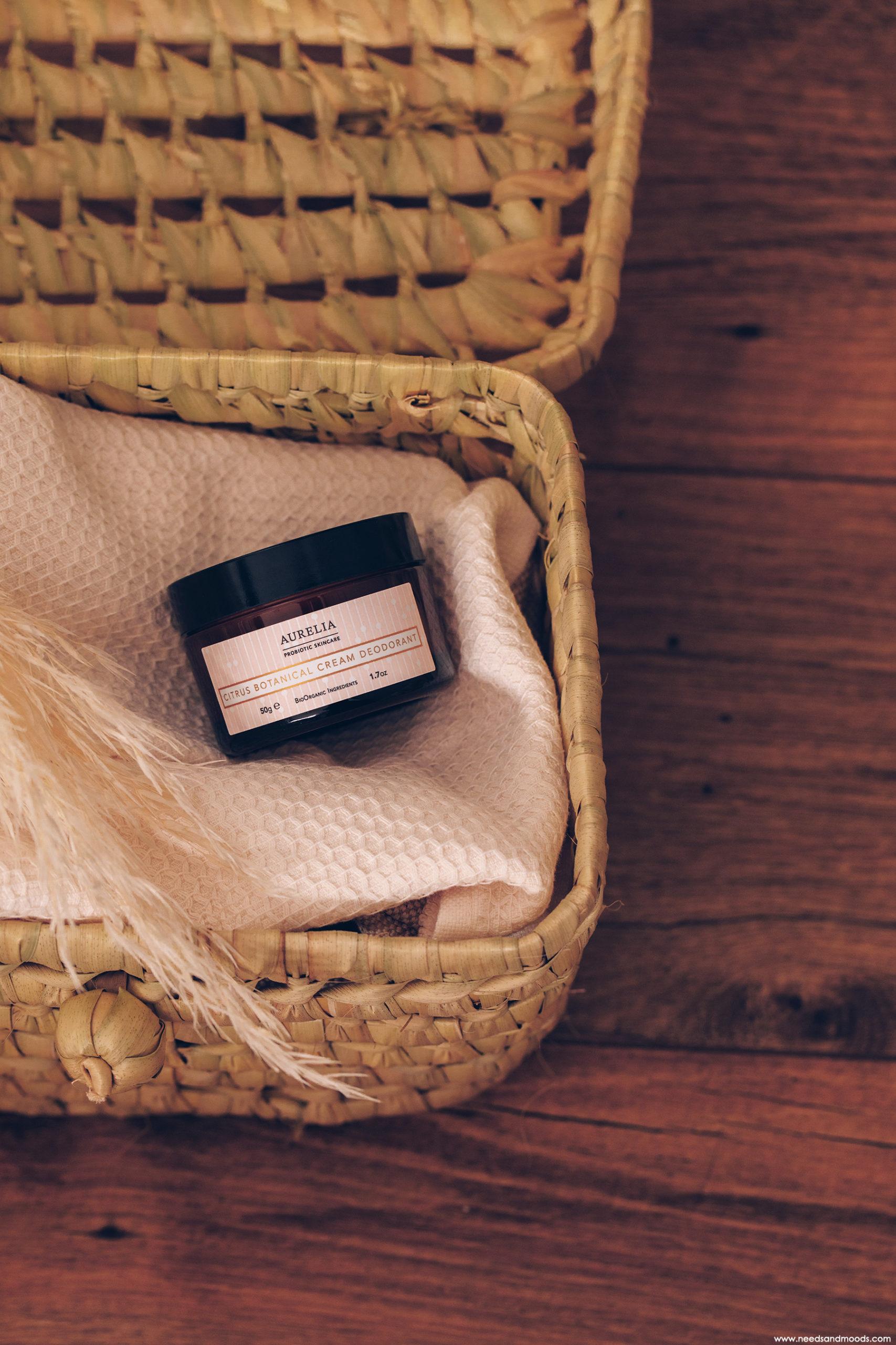 citrus botanical cream deodorant aurelia probiotic