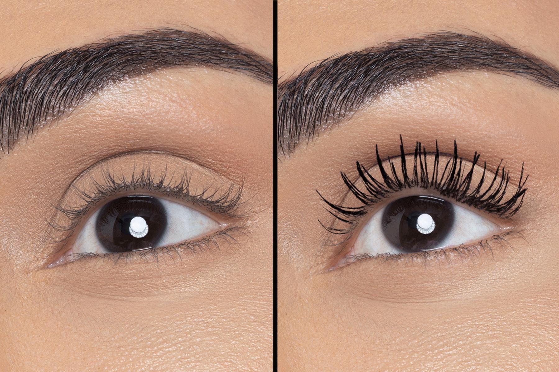huda beauty legit lashes swatch avant apres