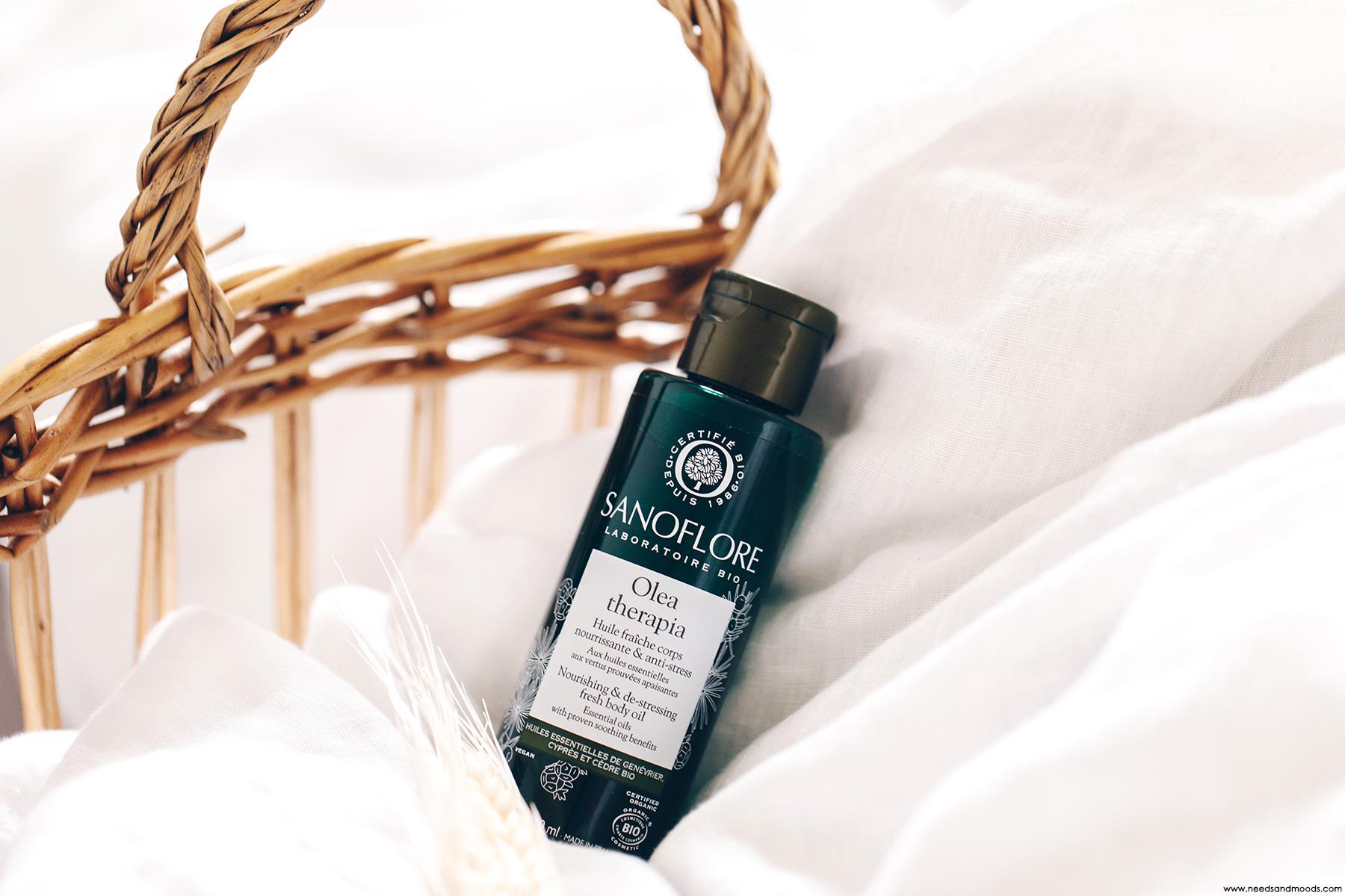 sanoflore olea therapia huile fraiche corps nourrissante anti-stress