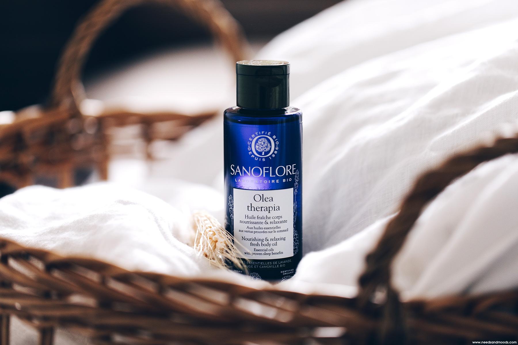 sanoflore olea therapia huile fraiche corps nourrissante relaxante